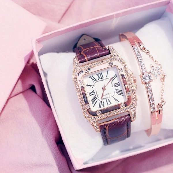 Crystal Watch and Bracelet